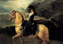 Portrait of Maria Teresa de Vallabriga on horseback 1783