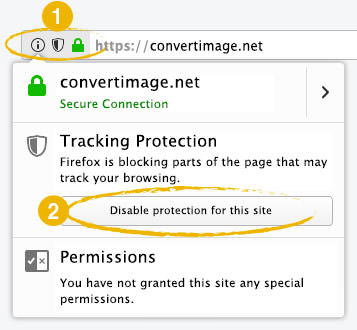 Firefox Screen : Tracking protection