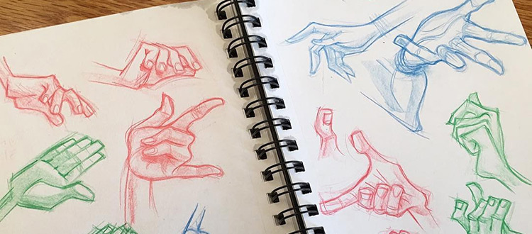 Colorful hand sketches