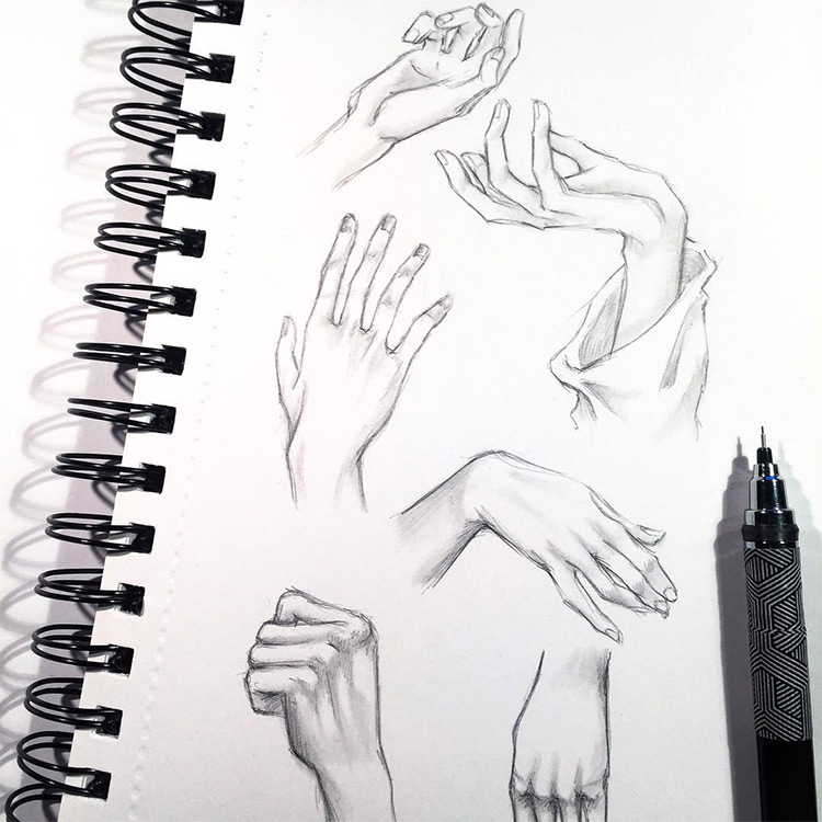 Clean lines hands & finger drawings