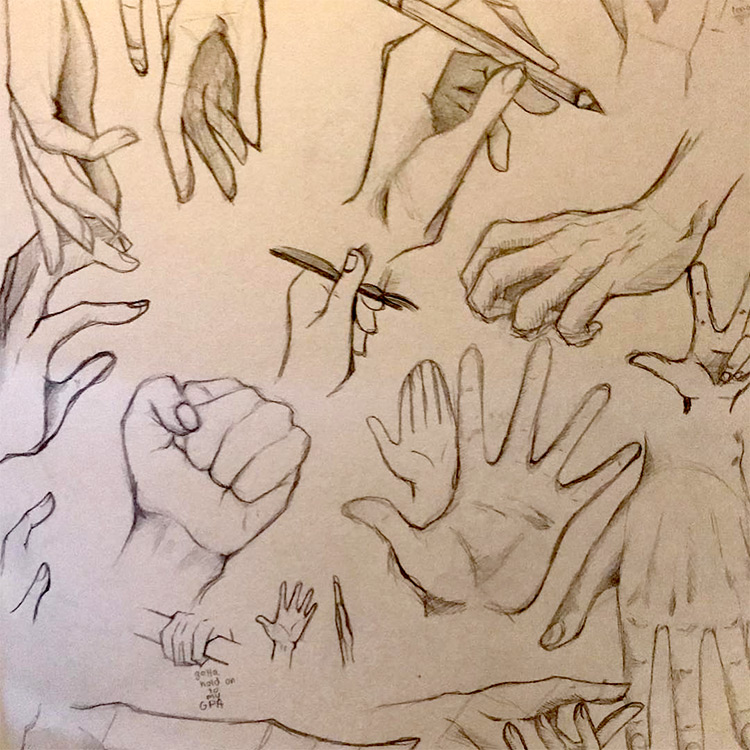 Sketchbook hands