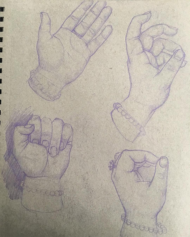 Drawing womens hands