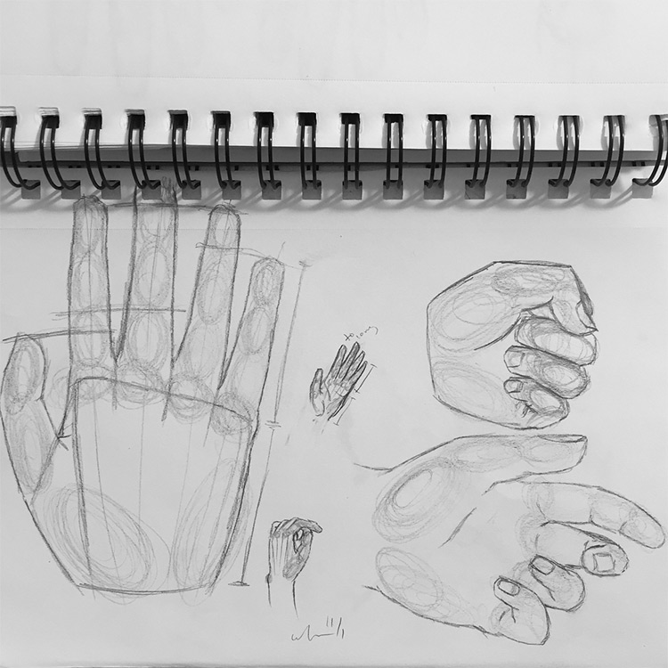 Messy hand sketches