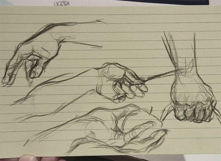 More sketchbook hands