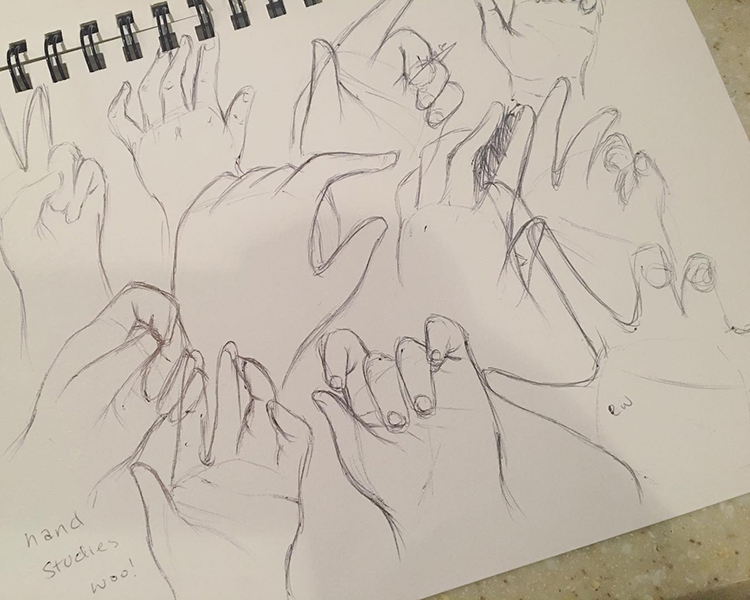 Rough hand sketchings