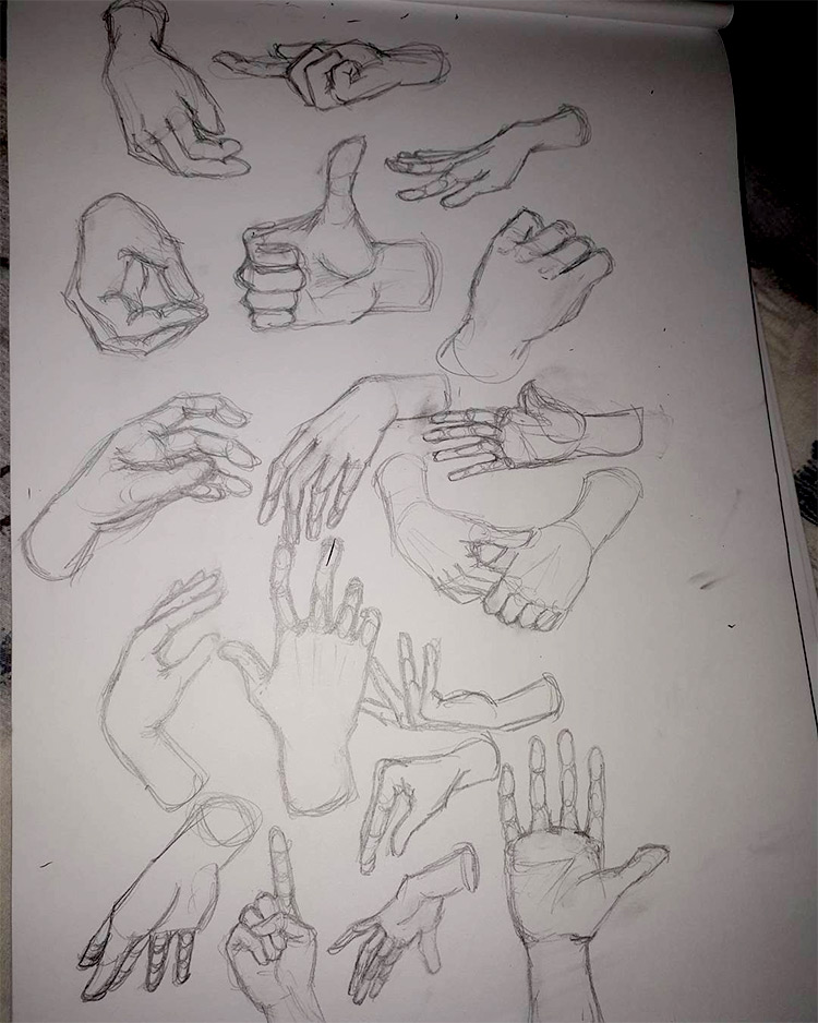 Beginner hand drawing practice
