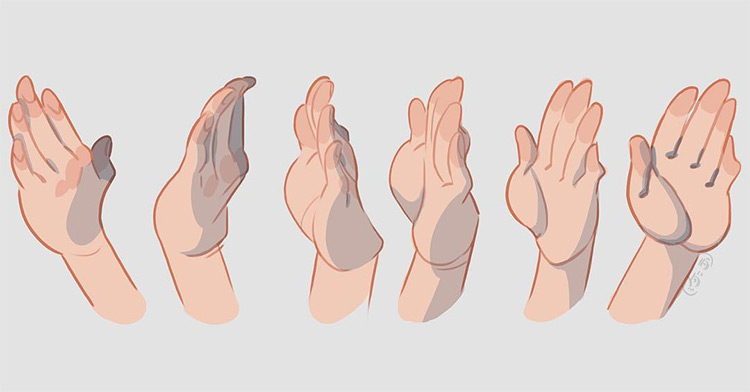 Digital hands in various poses
