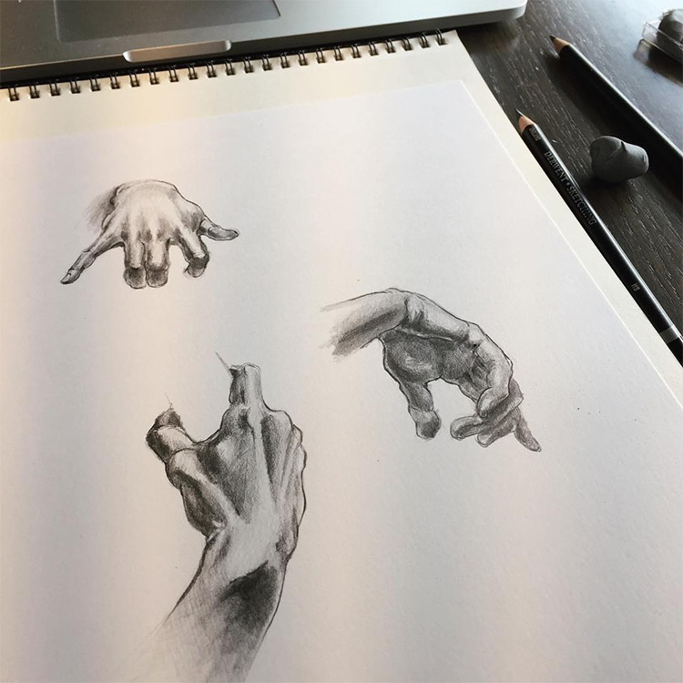 Realism practice in sketchbook