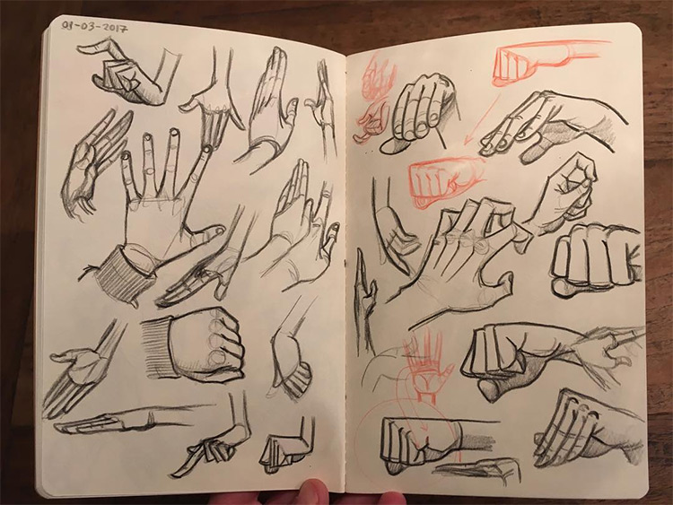 Cartoony style hand drawings