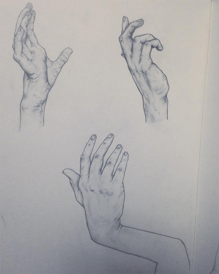 Dark paper with hands