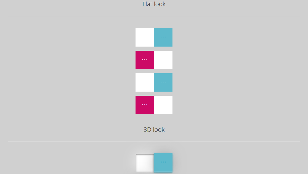 Demo image: Pure CSS Toggles