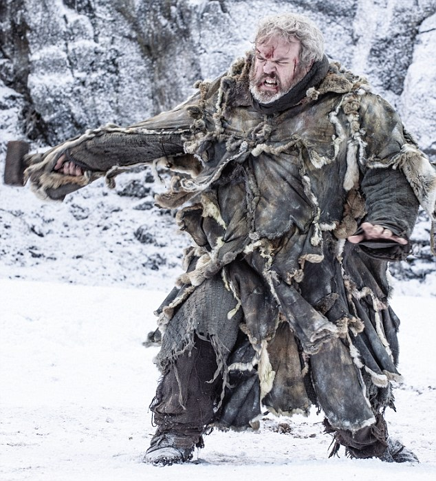 Hodor, a character in Game of Thrones, earned his name because he says only the word