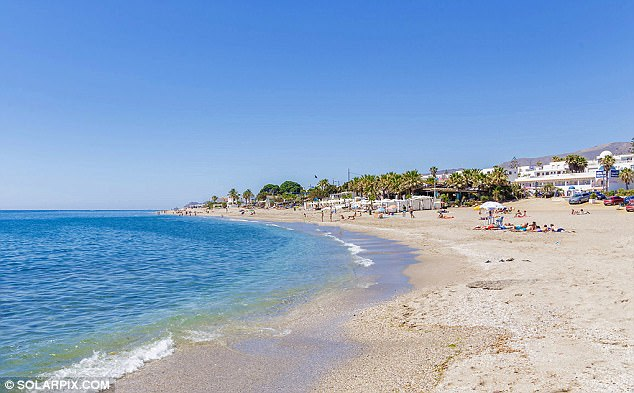 The incident happened last Friday on a beach at Mojacar, a seaside resort popular with British expats and holidaymakers in the province of Almeria (file)