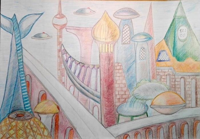 Рисунки детские школа будущего: Школа будущего рисунки —