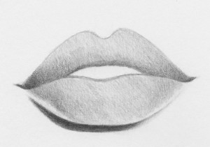 how to draw easy lips step by step 8