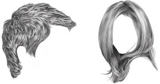 how to draw realistic hair in 4 steps