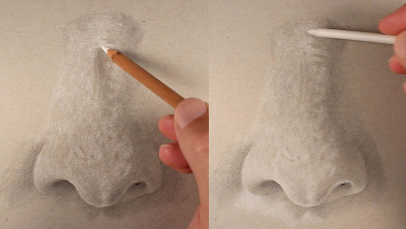 Add highlights to the nose