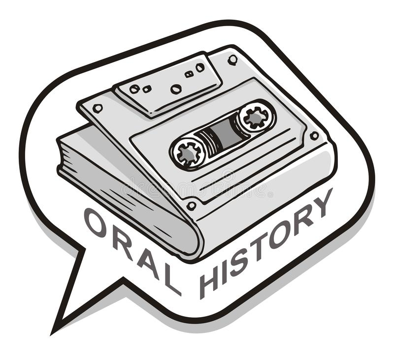 Oral History Icon vector illustration
