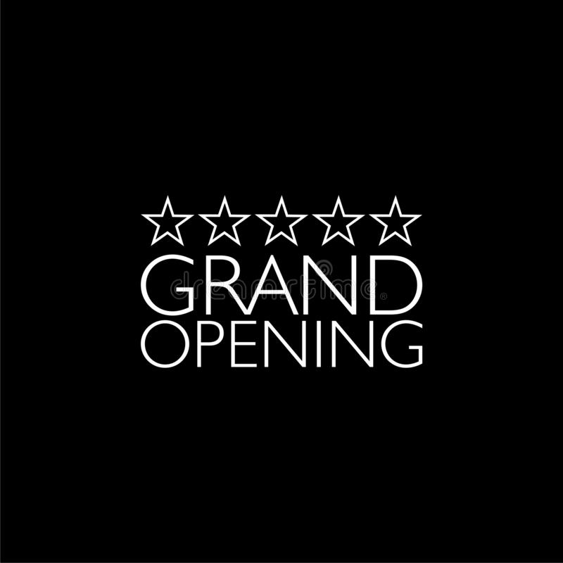 Grand Opening isolated on a black background royalty free illustration