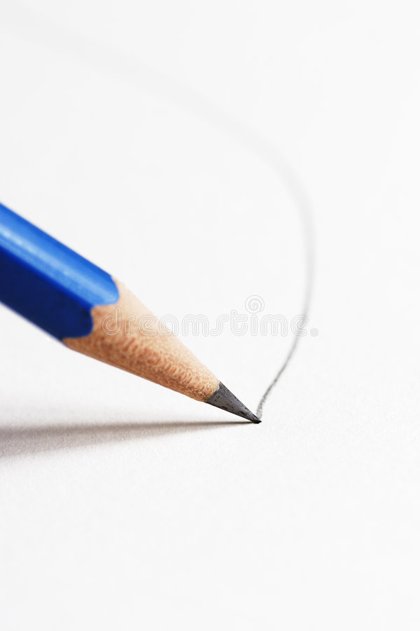 Pencil drawing line royalty free stock image
