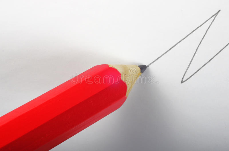 Pencil drawing line. royalty free stock photos