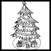 Learn how to draw a Christmas tree illustration
