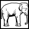 How to draw simple elephants with instructions