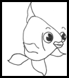 Learn how to draw cartoon fish