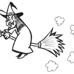 How to Draw Witch Flying Broomstick Halloween Drawing Tutorial