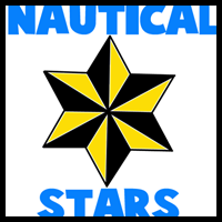 How to Draw 6 Pointed Nautical Stars
