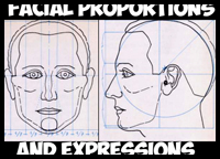 How to Draw the Human Head in the Proper Proportions